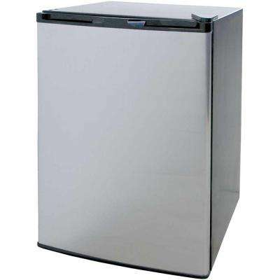 4.6 cu. ft. Mini Refrigerator in Stainless Steel with Black Cabinet