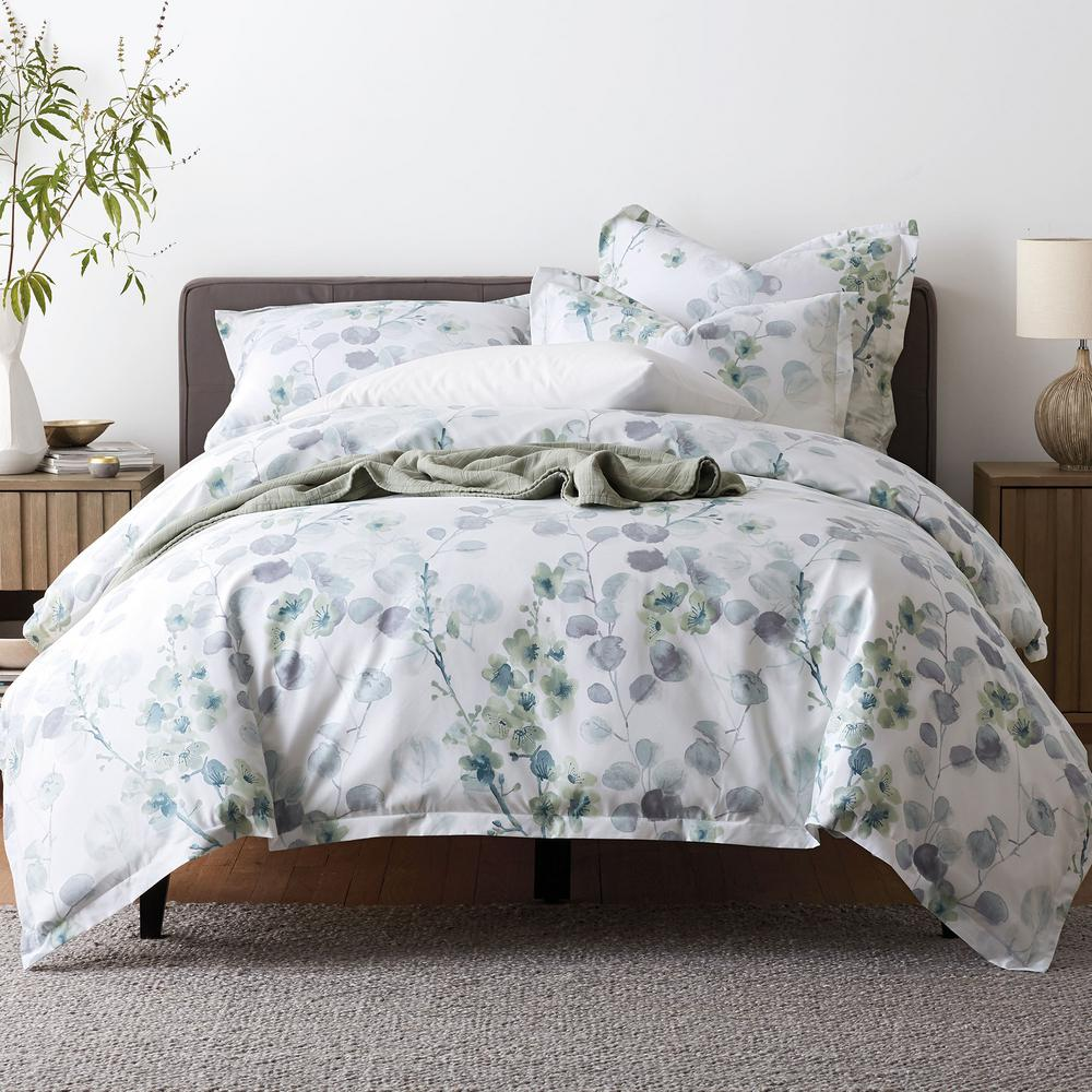 The company store plum blossom wrinkle free sateen twin duvet cover