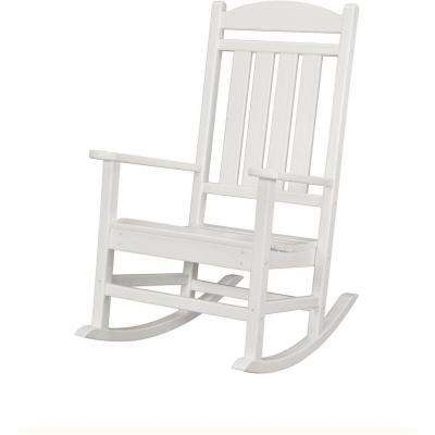 White All-Weather Pineapple Cay Patio Porch Rocker
