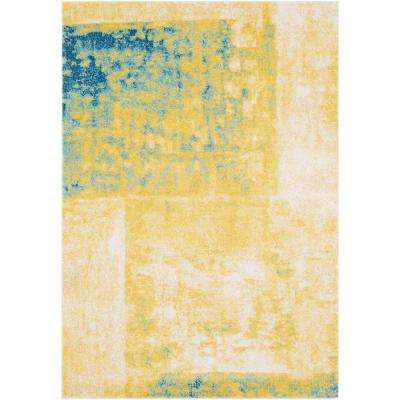 Nursted Yellow 8 ft. x 10 ft. Area Rug