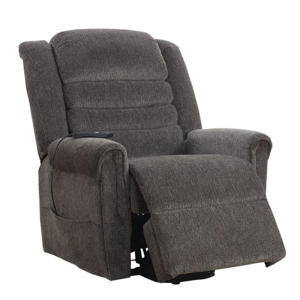 Furniture of America Mandy Gray Chenille Power Assist Recliner