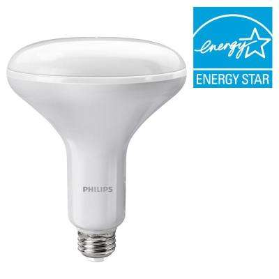 65W Equivalent Soft White BR40 Dimmable with Warm Glow Light Effect LED Light Bulb (E)* (4-Pack)