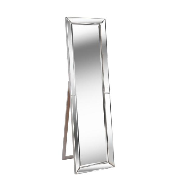 Oversized Clear Wood Beveled Glass Classic Mirror (64 in. H X 18 in. W)