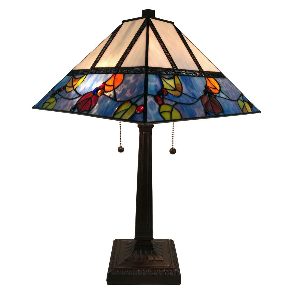 Amora lighting 22 in multicolored tiffany style berriesleaves amora lighting 22 in multicolored tiffany style berriesleaves mission table lamp aloadofball Images