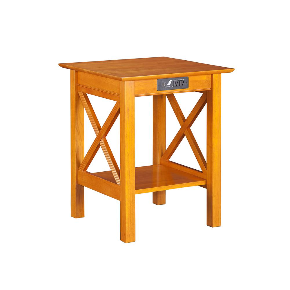 Atlantic Lexi Caramel Latte Printer Stand with Charging S...