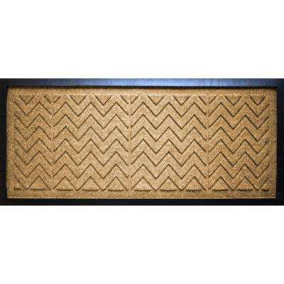 Gold 15 in. x 36 in. x 0.5 in. Chevron Boot Tray