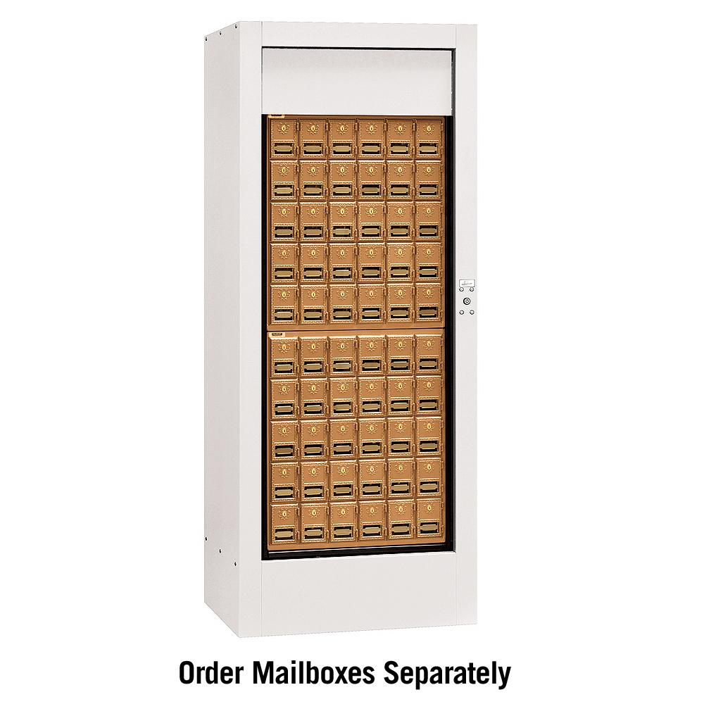 Salsbury Industries 3150 Series Private Brass Style Rotary Mail Center in White