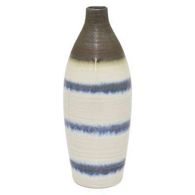 12.5 in. White Ceramic Vase