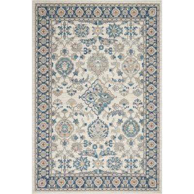 Riviera Gabriel Ivory/Blue 7 ft. 10 in. x 10 ft. 2 in. Indoor Area Rug