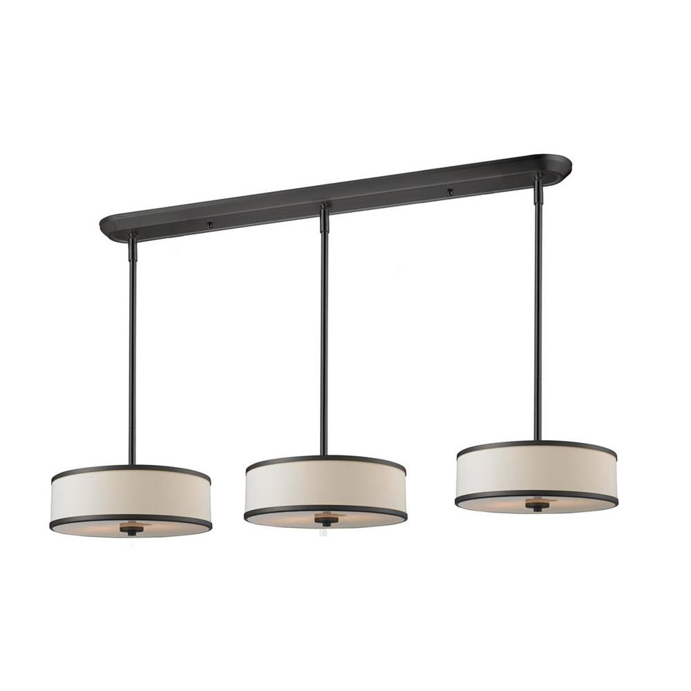 Lawrence 9-Light Creme and Bronze Incandescent Ceiling Island Light