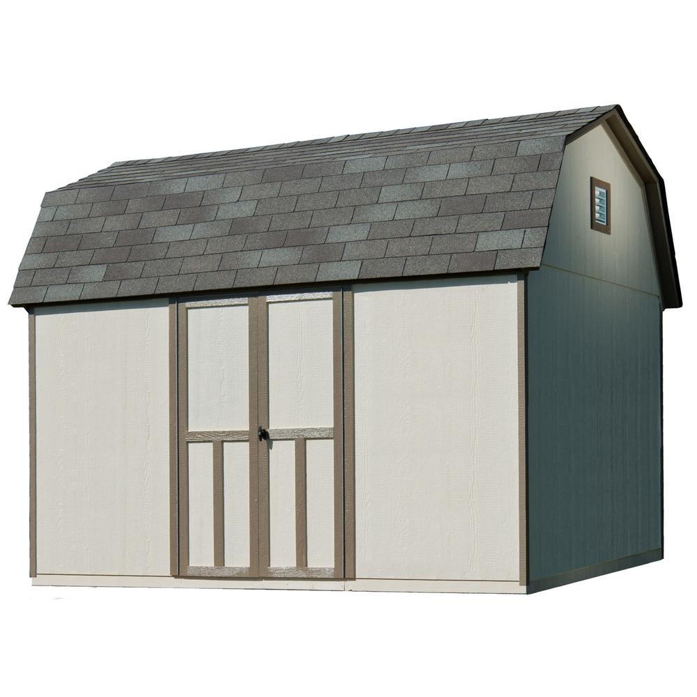 Handy Home Products Briarwood 12 ft. x 8 ft. Wood Storage Shed with Floor