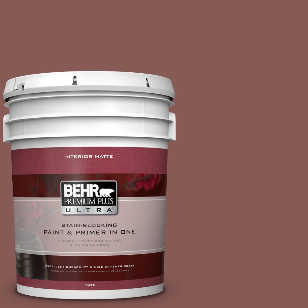 5 gal. #PPU1-9 Red Willow Flat/Matte Interior Paint