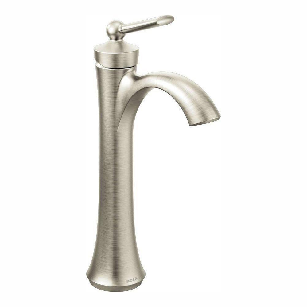 Wynford Single Hole Single-Handle Vessel Bathroom Faucet in Brushed Nickel