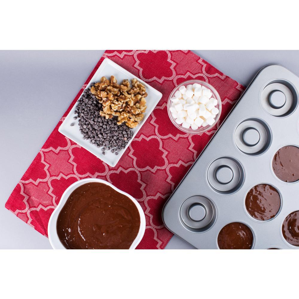 16 in. x 13 in. x 0.9 in. Non-Stick Cutie Dessert Cup Pan
