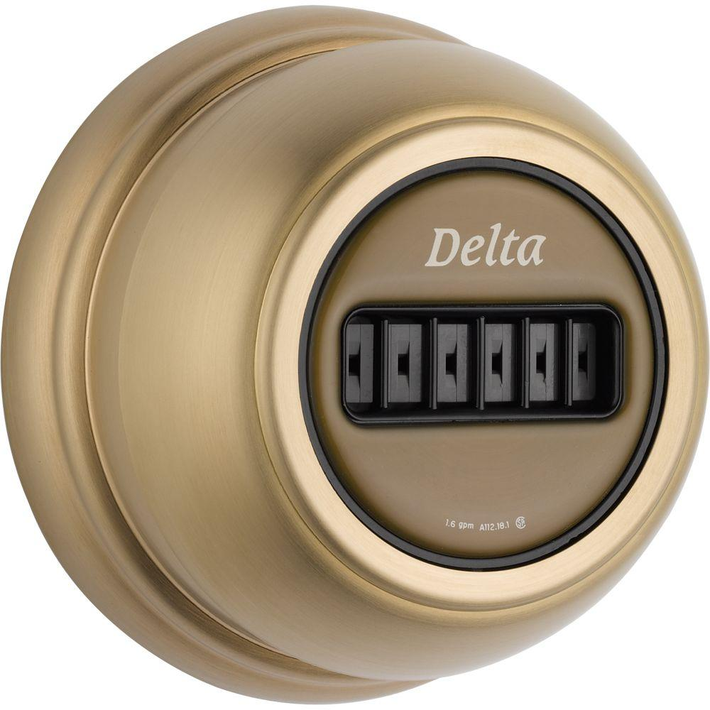Delta Classic Body Spray/Body Jet Trim Kit Only in Champagne Bronze with H2Okinetic (Valve Not Included)