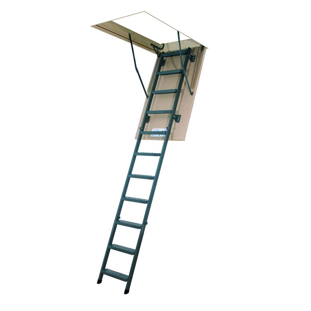 fakro lms 10 ft 1 in in x 54 in insulated steel attic ladder with 350 lb load capacity type ia duty rating66867 the home depot