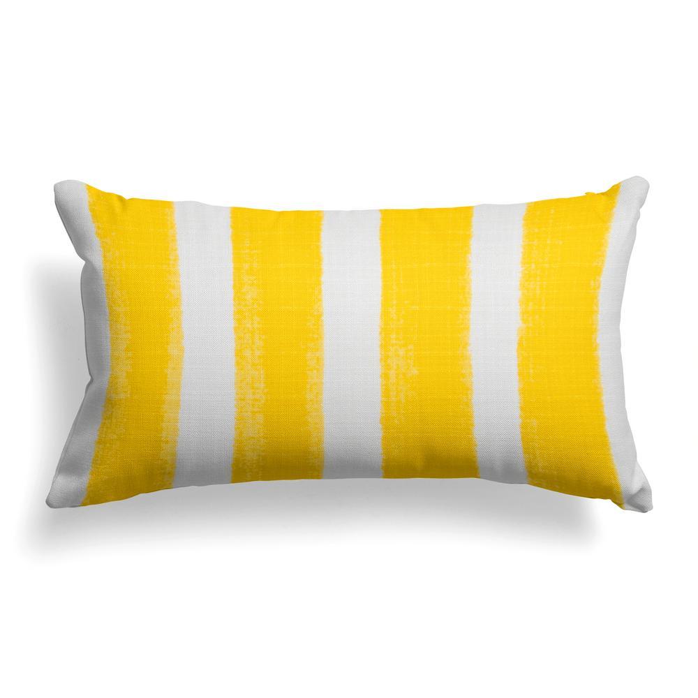 Caravan Yellow Rectangular Lumbar Outdoor Pillow