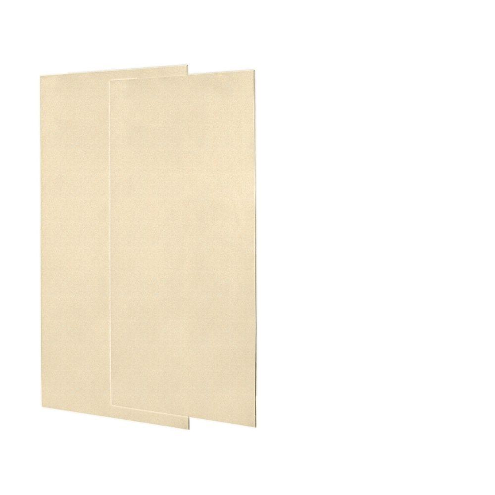 Swanstone 1/4 in. x 36 in. x 72 in. Two Piece Easy Up Adhesive Shower Wall in Cornflower-DISCONTINUED