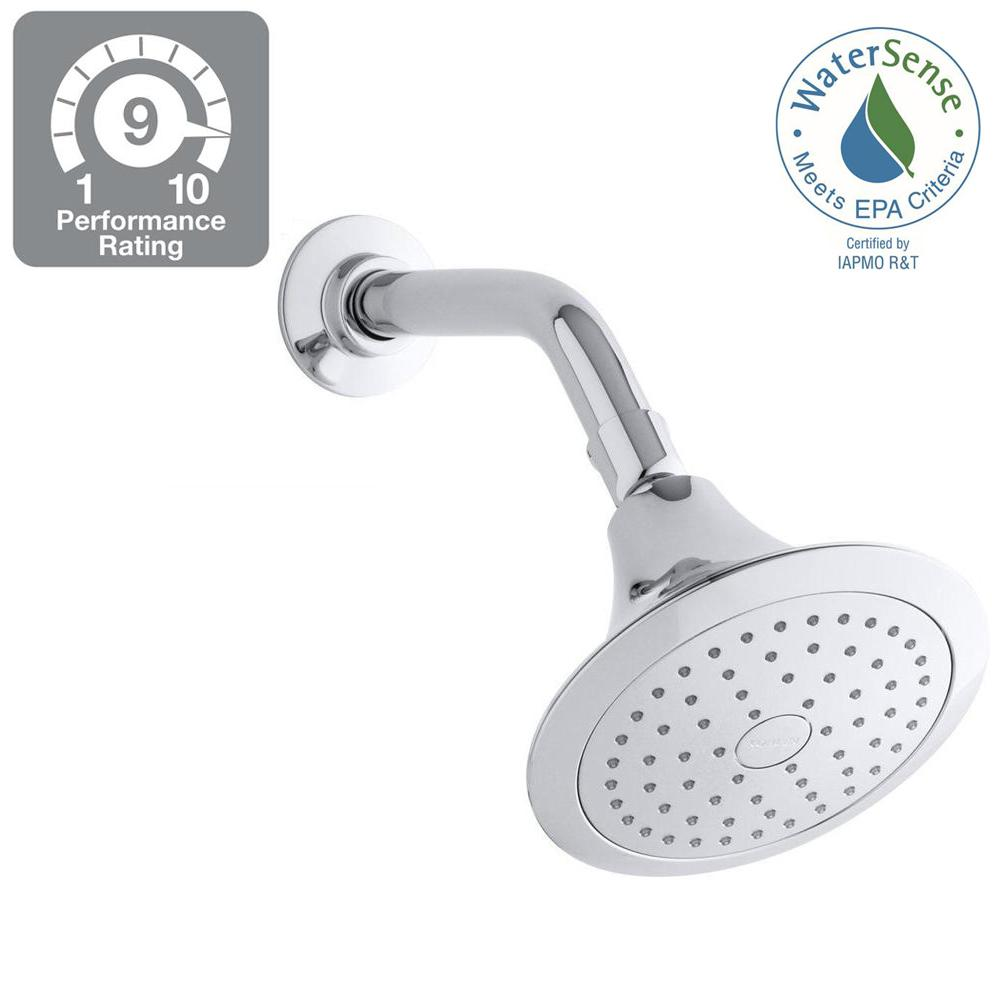 KOHLER Forte 1-Spray Single Function 5-1/2 in. Showerhead in ...