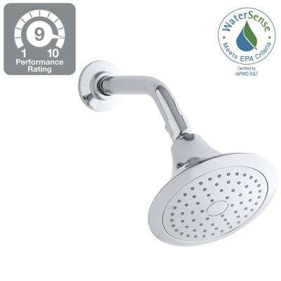 Forte 1-Spray Single Function 5-1/2 in. Showerhead in Polished Chrome