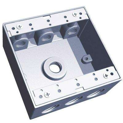 2-Gang 31.8 cu. in. Silver Universal Weatherproof Electrical Box