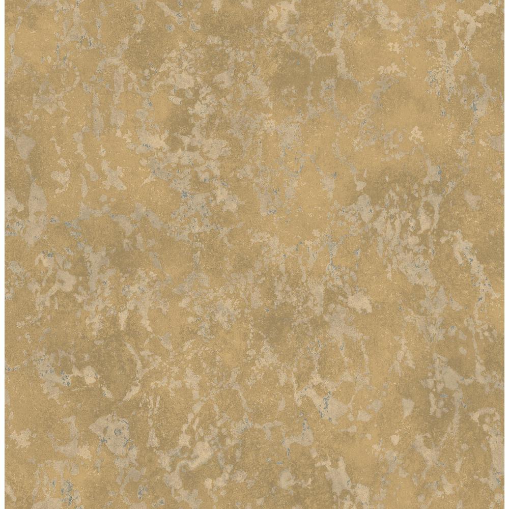 Imogen Brass Faux Marble Wallpaper Sample