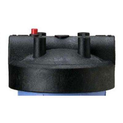 Filter Housing Cap with Pressure Relief Button in Black