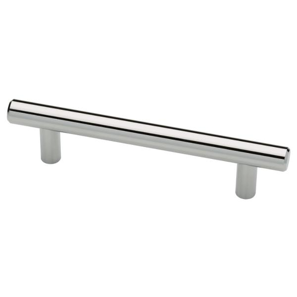 3 in. (76mm) Center-to-Center Polished Chrome Bar Drawer Pull