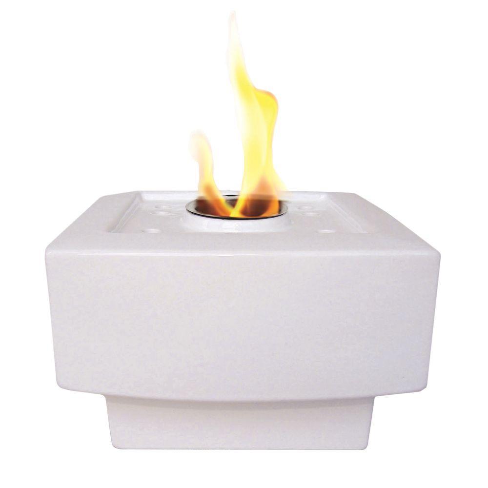 Pacific Decor Baltic Fire Pot in White-DISCONTINUED