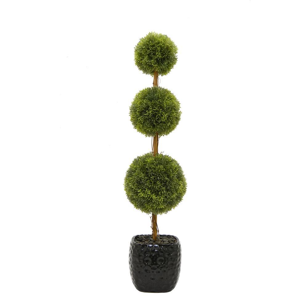 Faux Topiary Pot