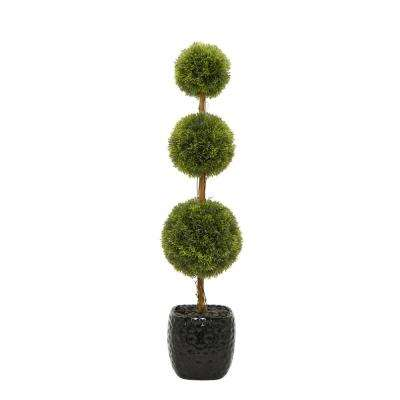Faux Topiary Pot