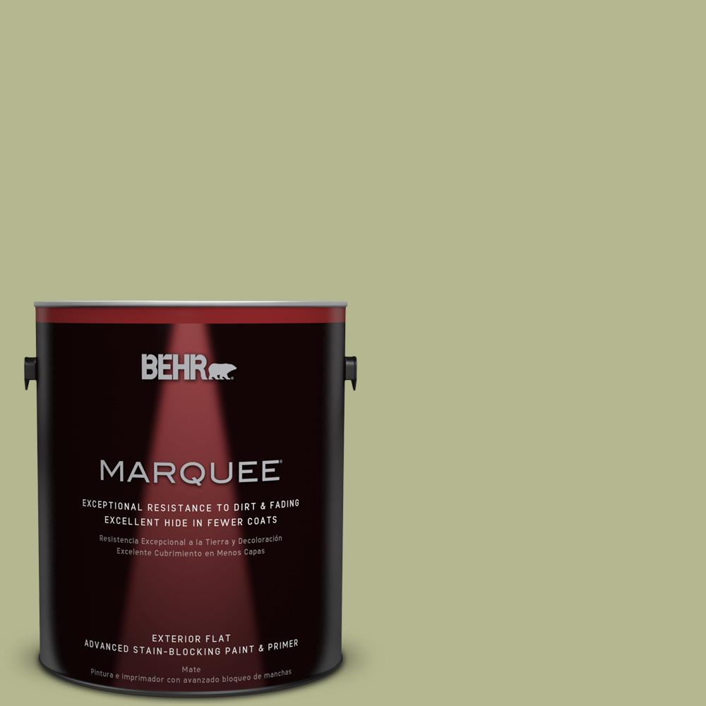 1 gal. #HDC-SP14-1 Secret Glade Flat Exterior Paint