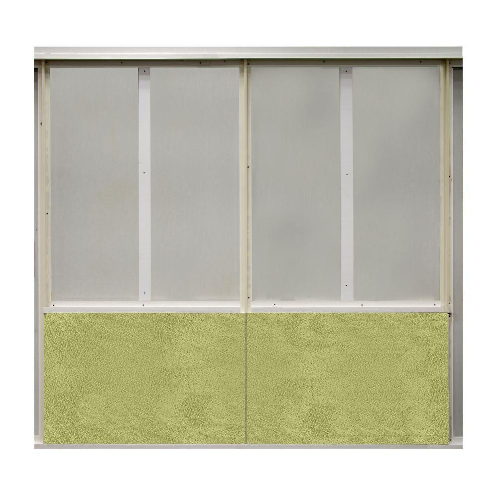 SoftWall Finishing Systems 20 sq. ft. Green Olive Fabric Covered Bottom Kit Wall Panel