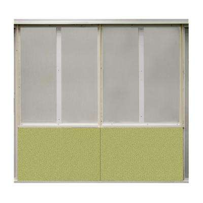 20 sq. ft. Green Olive Fabric Covered Bottom Kit Wall Panel