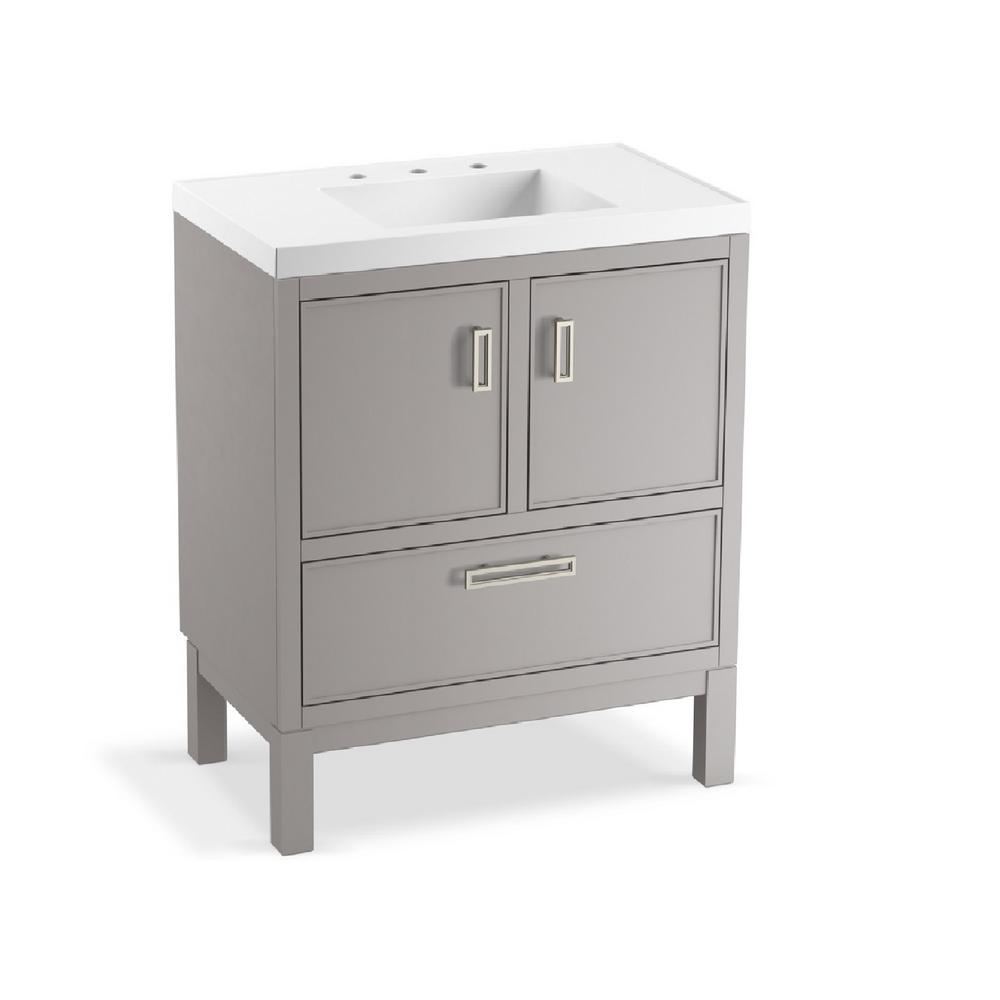 Kohler Rubicon 30 In W Bath Vanity Mohair Grey With Top White