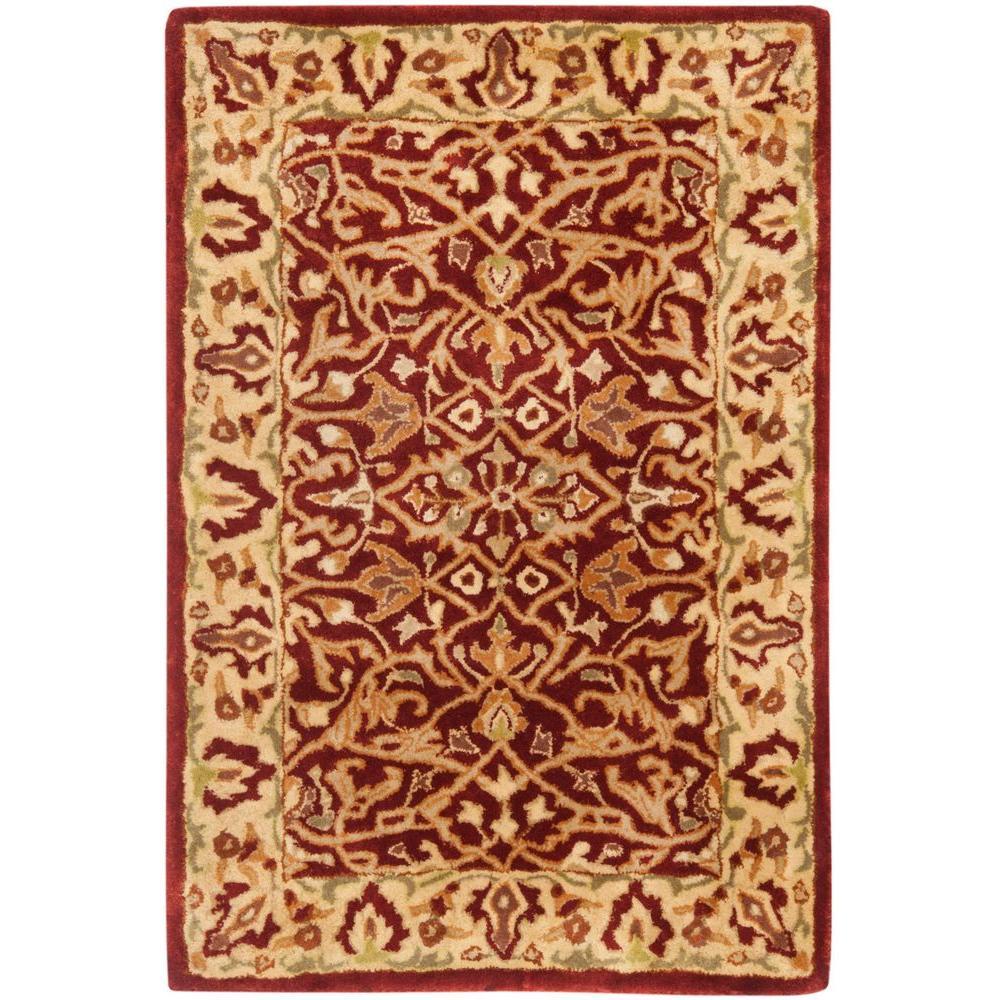 Safavieh Handmade Persian Legend Light Green Rust New: Safavieh Persian Legend Rust/Beige 2 Ft. X 3 Ft. Area Rug