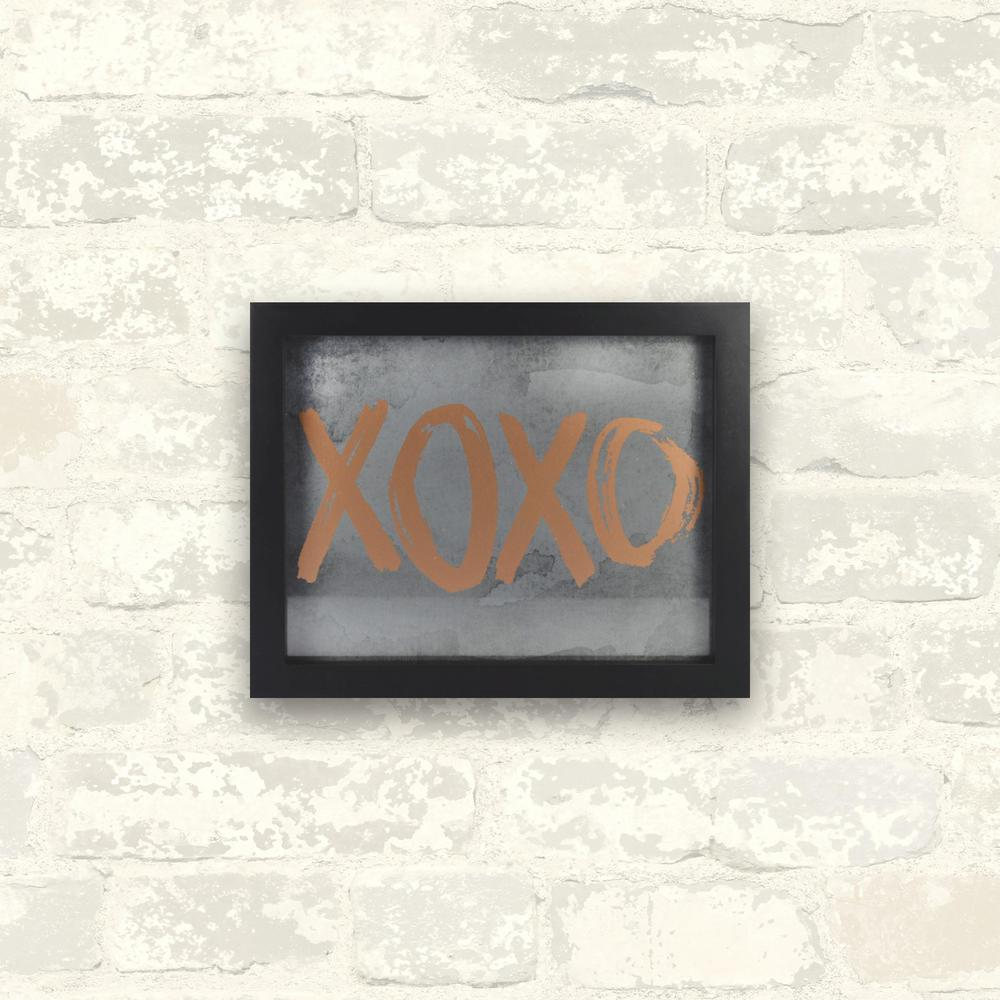 10 in. x 8 in. XOXO 1-Piece Framed Artwork with Metallic