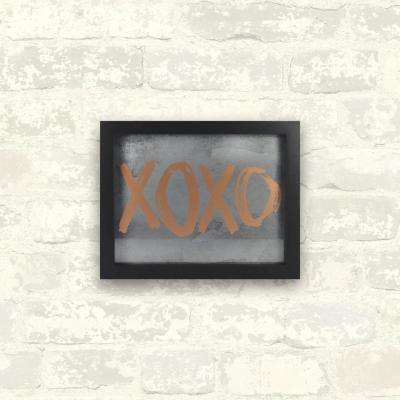 10 in. x 8 in. XOXO 1-Piece Framed Artwork with Metallic Screenprint