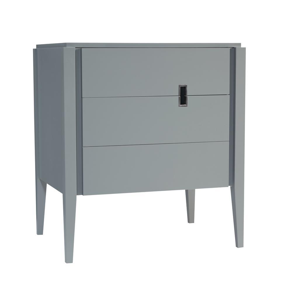 Zoe 30 in. W x 33.5 in. H Vanity Cabinet Only in Slate Gray