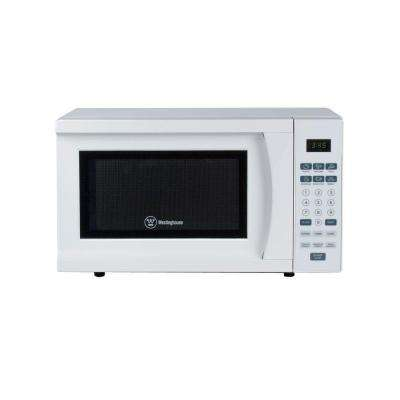 0.7 cu. ft. 700-Watt Countertop Microwave in White
