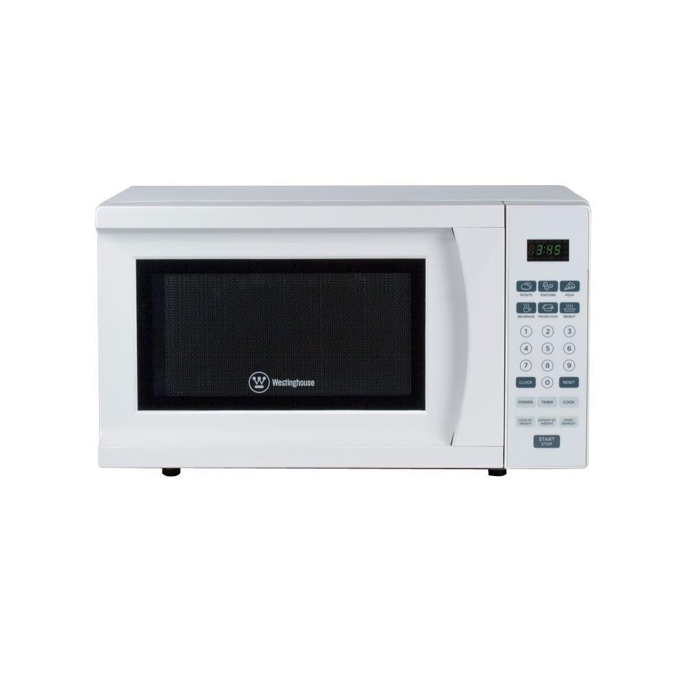 0.7 cu. ft. 700-Watt Countertop Microwave in White
