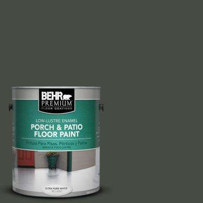 1 gal. #710F-7 Black Swan Low-Lustre Interior/Exterior Porch and Patio Floor Paint