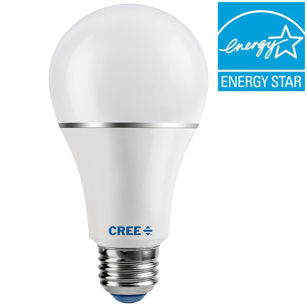 Home Depot Led Light Bulbs: Cree 30/60/100W Equivalent Soft White (2700K) A21 3-Way