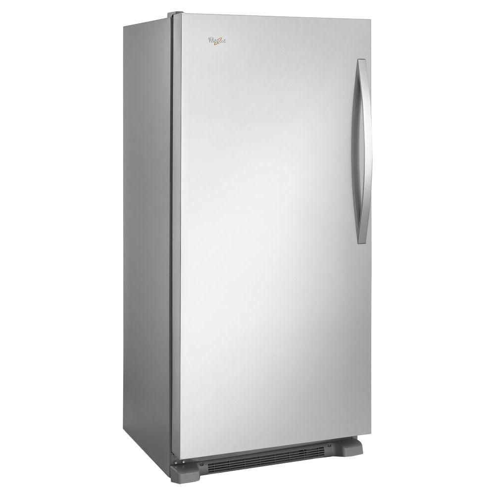 Whirlpool 31 inch W 17.7 cu. ft. SideKicks Frost Free Upright Freezer in Monochromatic Stainless Steel by Freezers