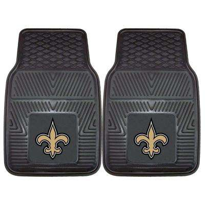 New Orleans Saints 18 in. x 27 in. 2-Piece Heavy Duty Vinyl Car Mat