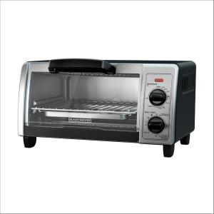 Black & Decker 4-Slice Black Toaster Oven (2-Knob) by BLACK+DECKER