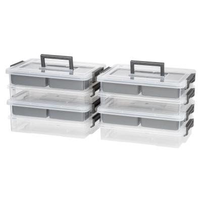 Layered Latch Box with 4 organizer cups (4-Pack)