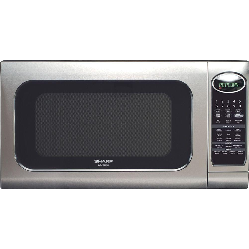 Sharp Carousel 2.0 cu.ft. Countertop Microwave in Stainless Steel with Sensor Cooking-DISCONTINUED
