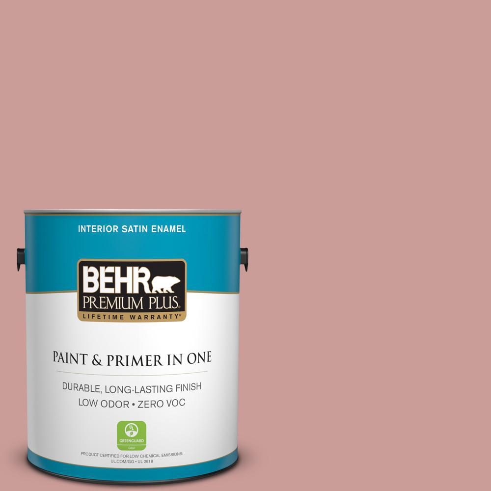 1 gal. #170F-4 Fondue Satin Enamel Zero VOC Interior Paint and