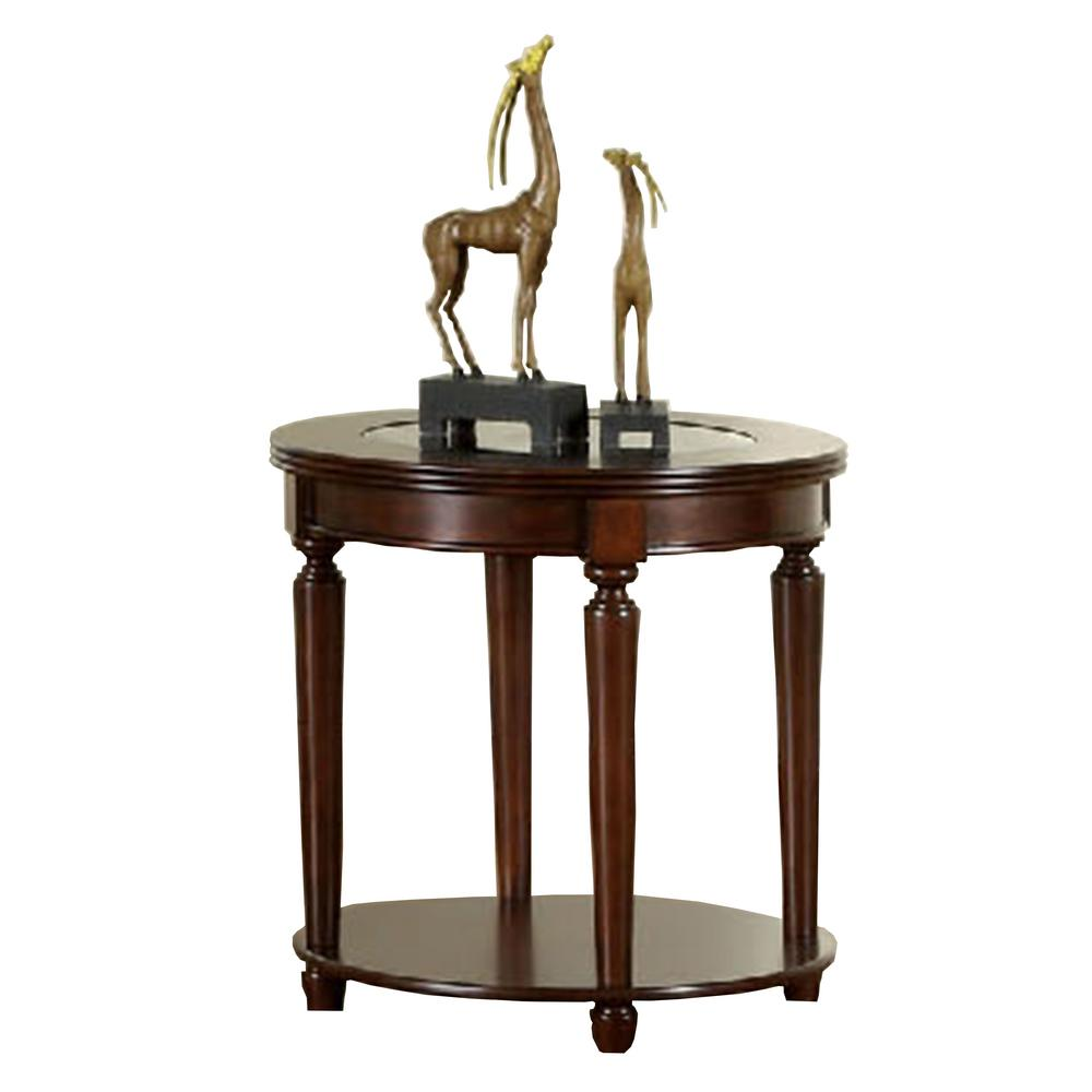 Furniture Of America Granvia Dark Cherry End Table